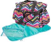 Trend Lab Pink & Black Modern Chevron Deluxe Duffel Diaper Bag