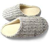 Vivay Cotton Indoor Slippers for Men Winter Knitted Anti-slip Slippers Beige &