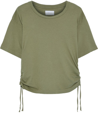 Current/Elliott The Sand Trap Ruched Cotton-jersey T-shirt
