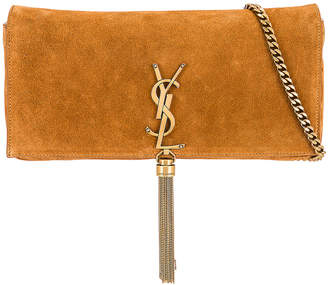 Saint Laurent Kate Monogramme Bag in Cinnamon   FWRD