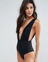 Pull&Bear Plunge Swimsuit