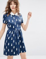 Paul & Joe Sister Minette Cat Print Dress
