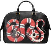 Gucci Snake print leather duffle