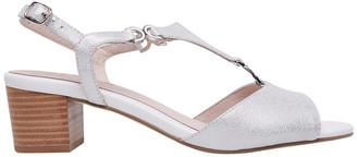 Supersoft By Diana Ferrari Cosmia White Metallic Sandal