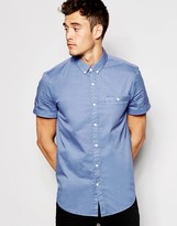 Jack Wills Shirt In Cotton Poplin Short Sleeves