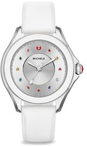 Michele Women's Cape Topaz Dial Silicone Strap Watch, 40Mm