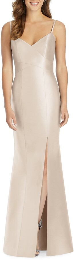 Alfred Sung Sateen Twill Trumpet Gown