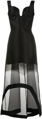 Alexander McQueen Organza Fil Coupe Degrade Dress