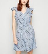 New Look Tall Spot Ruffle Dress
