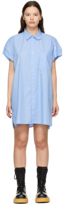 Ader Error Blue Striped Shirt Dress