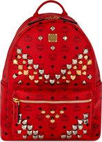 Mcm Stark Stud Detail Medium Backpack