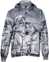 French Connection Men's Moutain Pass Print Padded Jacket