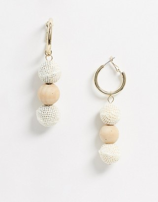 Skinnydip Skinny Dip knitted drop earrings in yellow and gold