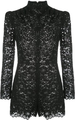 Giuseppe di Morabito Embroidered Sheer Playsuit