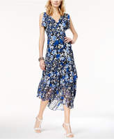 INC International Concepts I.n.c. Asymmetrical Split-Sleeve Midi Dress, Created for Macy's
