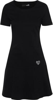 Love Moschino Appliqued Cotton-blend Twill Mini Dress
