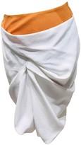 Thierry Mugler White Silk Skirts
