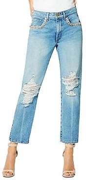 Ramy Brook Embellished Elle Boyfriend Jeans in Vintage Wash