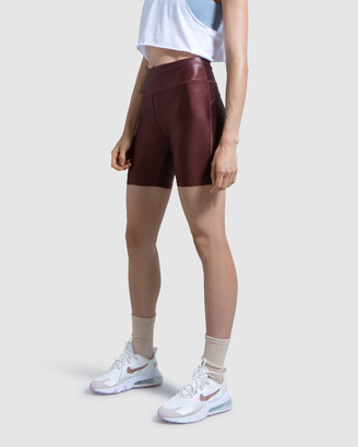 First Base - Women's Brown Sports Tights - Slick Biker Shorts - Size One Size, 1 at The Iconic