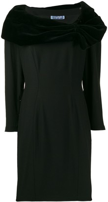 Thierry Mugler Pre-Owned 1990's Draped Details Short Dress