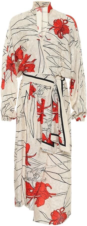 Johanna Ortiz Romantic Message floral jacquard wrap dress