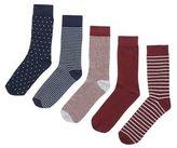 New Look 5 Pack Multicoloured Stripe And Spot Socks