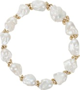 Yvel White Baroque Fresh Water Pearl Necklace