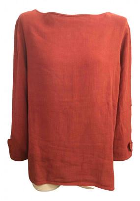 Saint Laurent Orange Linen Tops