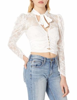 For Love & Lemons Women's Farrah Button-Up Blouse