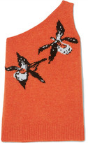 Prada Asymmetric Intarsia Wool Sweater - Orange