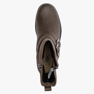 UGG Wilde Slate Leather & Suede Biker Boots
