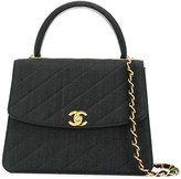 Chanel Pre Owned 1992 diagonal quilt trapeze 2way bag