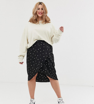 Koko polka dot wrap skirt
