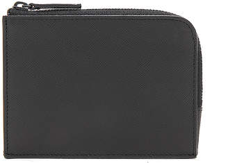 Common Projects Saffiano Leather Zipper Wallet in Black   FWRD