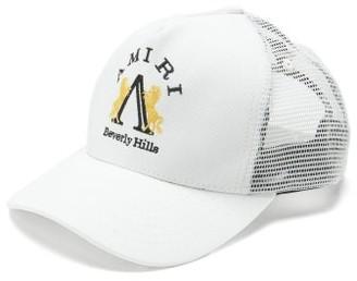 Amiri Beverley Hills-embroidered Cotton Trucker Cap - White
