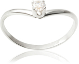 Journee Collection Cubic Zirconia & Sterling Silver V Solitaire Ring