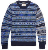 Beams Gim Fair Isle Wool Sweater - Navy