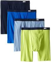 Fruit of the Loom Men's Covered Waistband Boxer Briefs(Pack of 4)