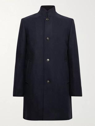 Club Monaco Loukas Wool-Blend Overcoat - Men - Blue