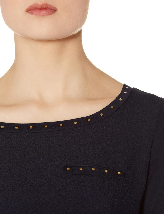 The Limited Mixed Media Mini Stud Top