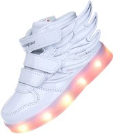 Shinmax LED Kid Shoes LED Sneakers Shoes CE certification 7 Colors Changing Flashing Sport Shoes USB charging(,32)