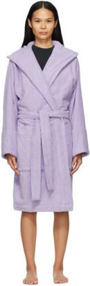 Tekla Purple Hooded Bathrobe