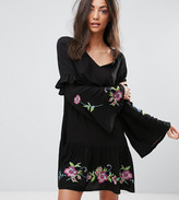 Asos Tall TALL ULTIMATE Mini Embroidered Smock Dress
