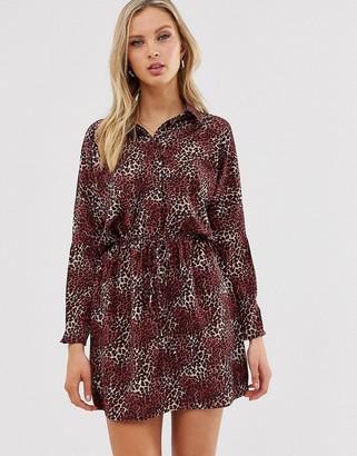 AX Paris animal print shirt dress