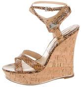 Michael Kors Snakeskin Sandal Wedges