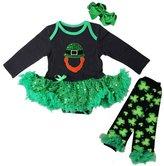 Kirei Sui Baby Leprechaun Sequin Bodysuit Warmers