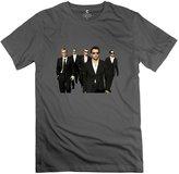 ErinHuck T-shirt Men's 100% Cotton Backstreet Boys Fitted T-shirt DeepHeather