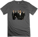 ErinHuck T-shirten's 100% Cotton Backstreet Boys Fitted T-shirt DeepHeather