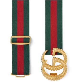 Gucci Web elastic belt with torchon Double G buckle