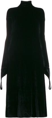 aganovich high neck shift dress